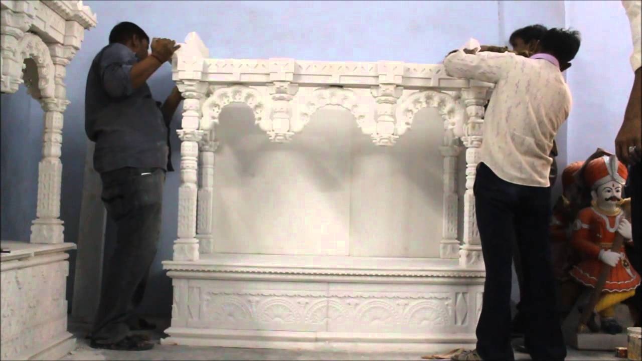 Assemble Marble Temple, Marble Temple Assembling, Marble Mandir Fixing.    YouTube
