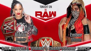 |Raw|Bianca Belair vs Ember Moon| Raw Universal Women´s Championship Match| #WWE2K20
