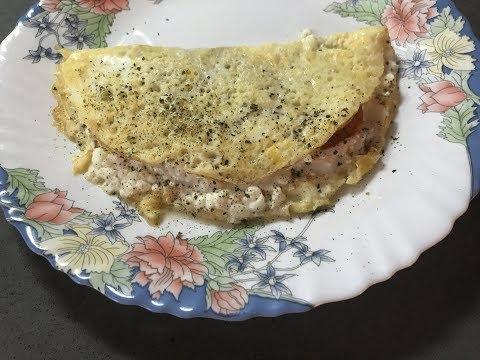 ОМЛЕТ С ТВОРОГОМ / Белковый ужин, сытный и диетический