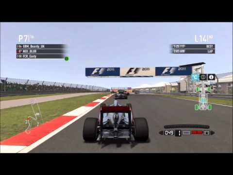 F1 2011 India New Delhi RLR Race Highlights Part 1 HD