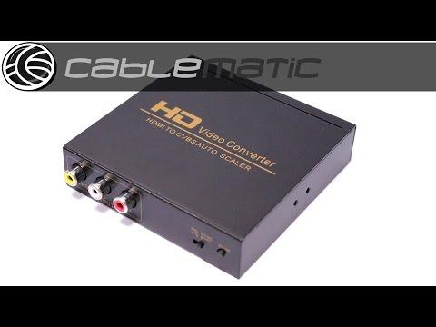 Conversor HDMI A Audio Y Vídeo Analógico RCA Distribuido Por CABLEMATIC ®