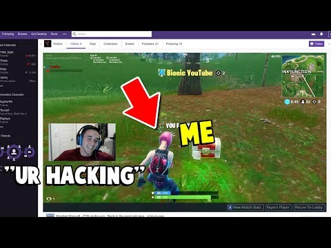 So a Twitch Streamer ACCUSED me of HACKING on Fortnite LIVE...