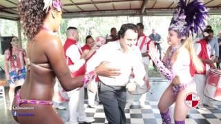 Casamento no Espaço Natureza com show bateria escola de samba Apito de Mestre