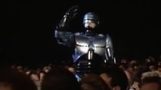 Pee-wee Herman, RoboCop and ED 209 at the Oscars