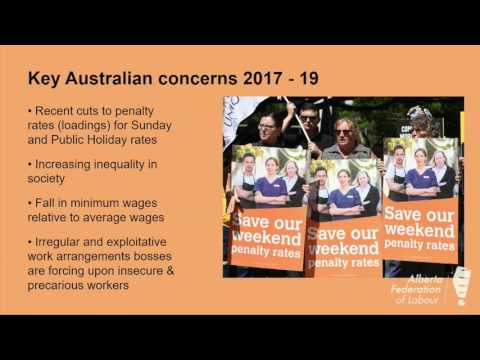 Kathie Muir on Lessons from Australia at Work Campaign at AFL Convention 2017