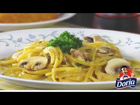 Spaghetti Integral Doria con Champiñones