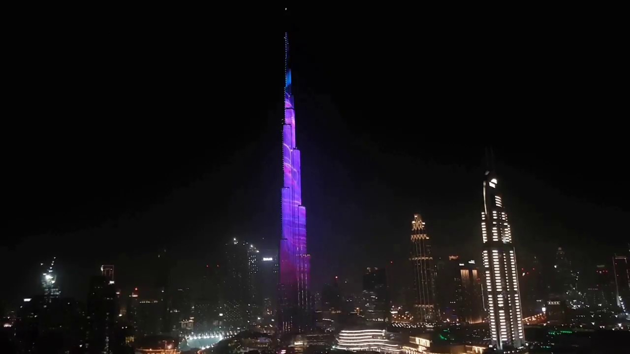 Dubai Light Show Burj Khalifa 2018 Youtube