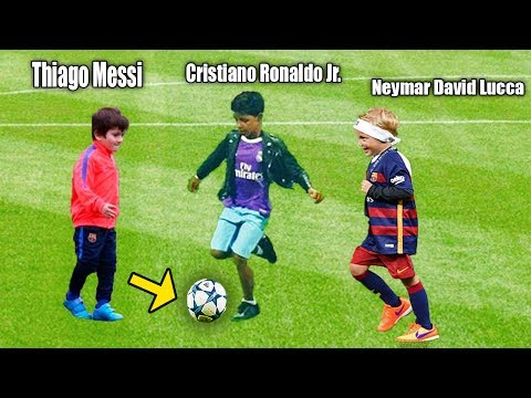 Children of the Players !! World's Best Future .. Ronaldo, Messi, Neymar ..