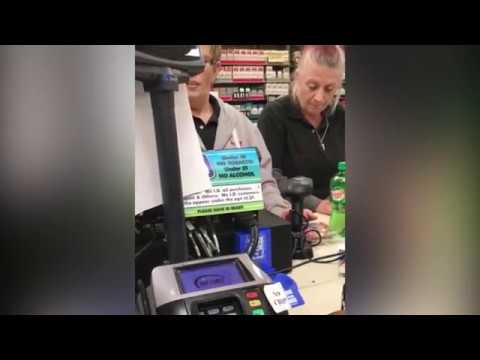 'Drugged-up' store clerks appear to fall asleep at the register
