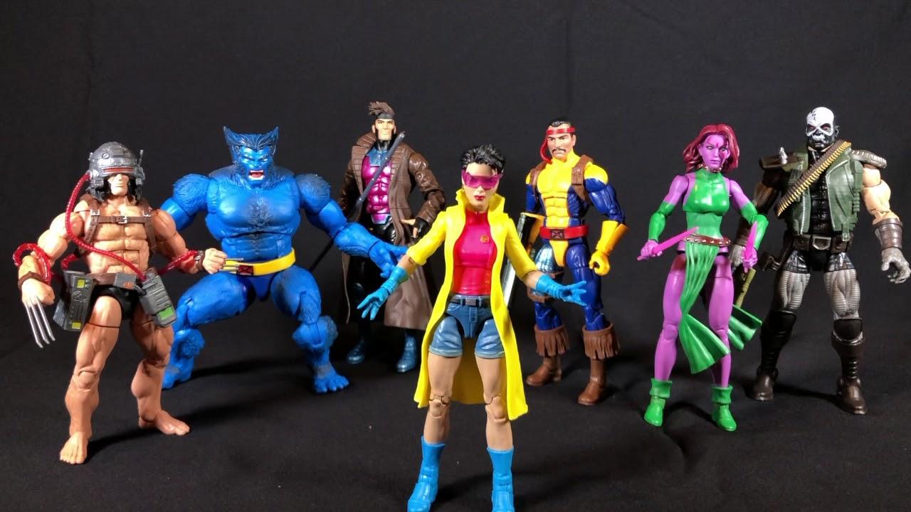 """Marvel Legends 6/"""" X-Men Wave 4 CALIBAN BAF Set of 6 *Minus Jubilee*"""