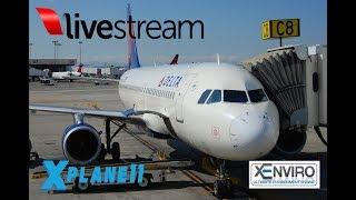 X-Plane 11 | A320 B733 | VATSIM | KDCA-KCVG-KPHL-KBOS