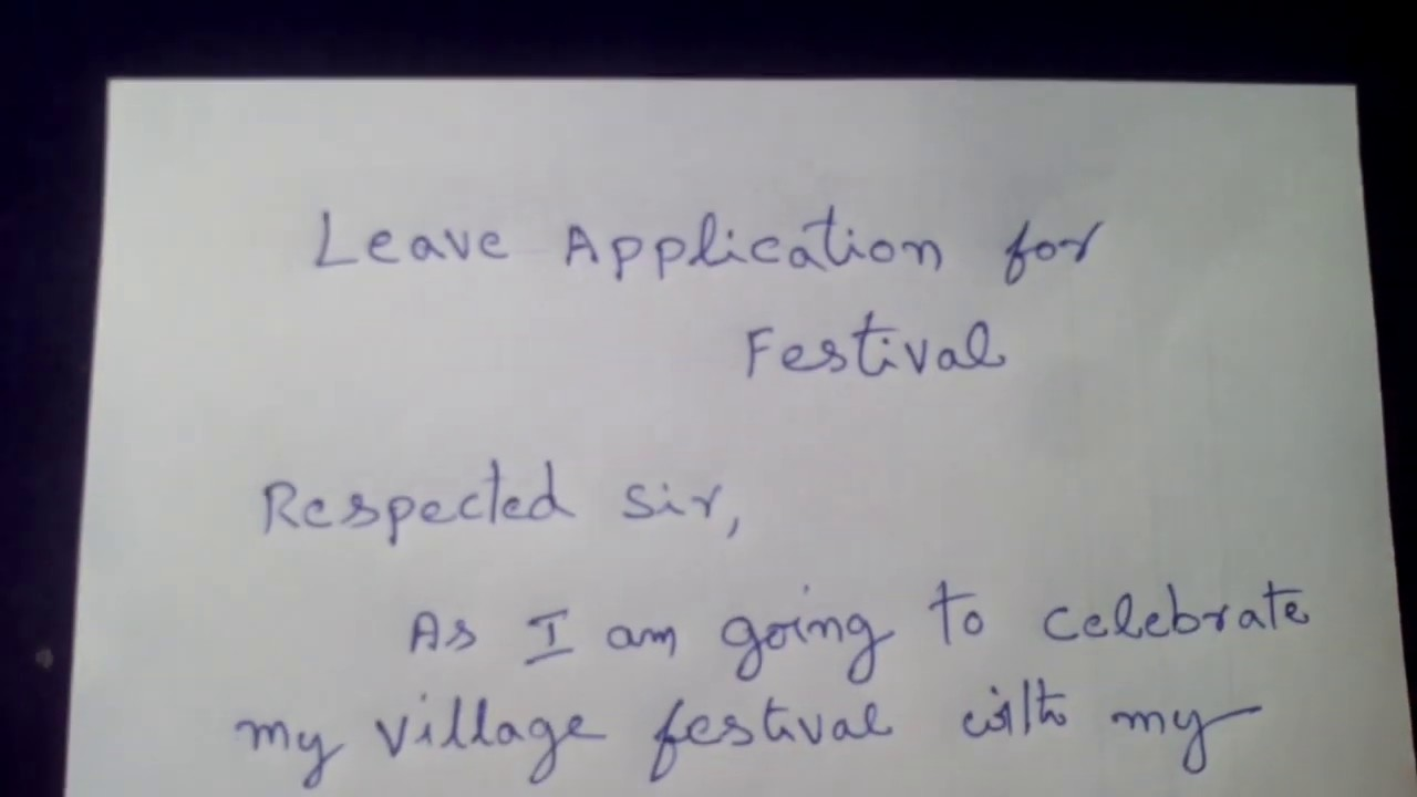 Leave letter, Leave Application to the headmaster