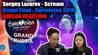 Korean Reaction to Sergey Lazarev - Scream - Grand Final - Eurovision 2019