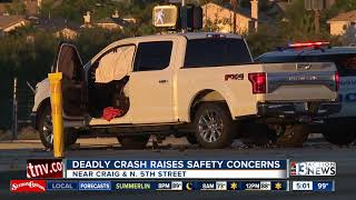 Police investigate fatal crash in North Las Vegas