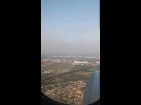 Ethiopian Airlines landing at Beijing Airport