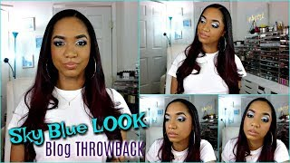 Get Ready With Me ❤ Makeup Tutorial ❤ THROWBACK Sky Blue LOOK *NEW + OLD Products*