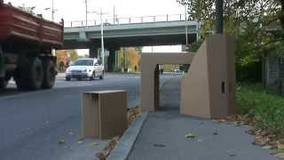 Foldlife cardboard foldable stool chair & table in autumn.mpg