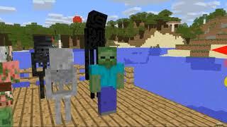 Monster School Hungry Shark Challenge Minecraft animation