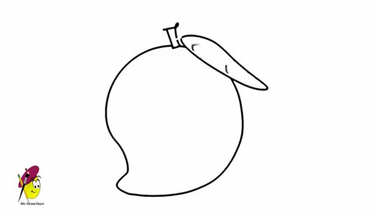 Mango How To Draw A Mango Fruits And Vegetables Youtube