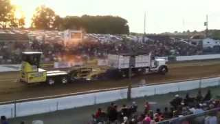 peterbilt dump truck sled pull @ the buck 6/16/12