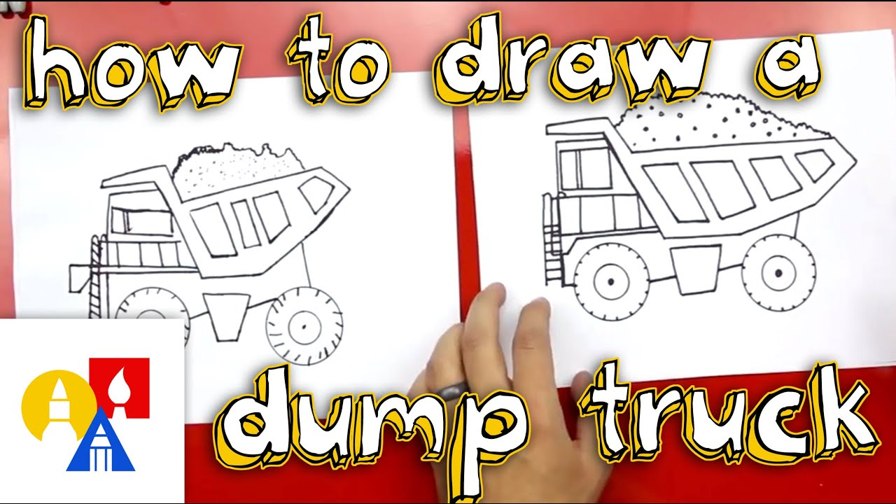 how to draw a dump truck youtube