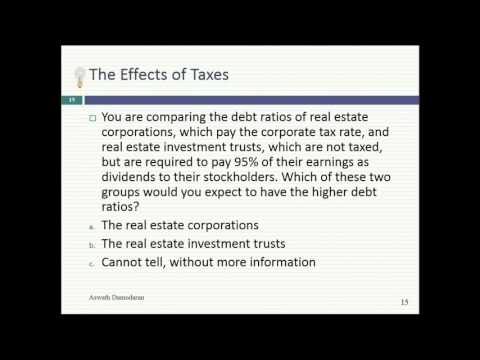 Session 18 (Undergraduate): The Debt Trade off (continued)