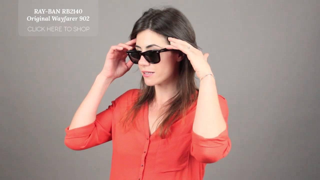 6081389198110 Ray Ban RB2140 Original Wayfarer Sunglasses Review - YouTube