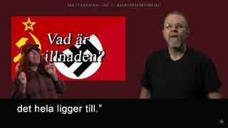 SEKTVÄNSTERN  DEL 1 - BEGREPPSFÖRVIRRING