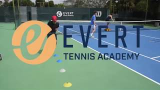 Tennis drill by Cassiano Costa I Evert Tennis Academy
