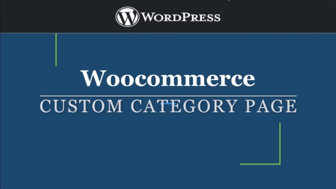 Customize Woocommerce Category Page