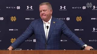 @NDFOOTBALL BRIAN KELLY PRESS CONFERENCE - SYRACUSE (11/13/18)