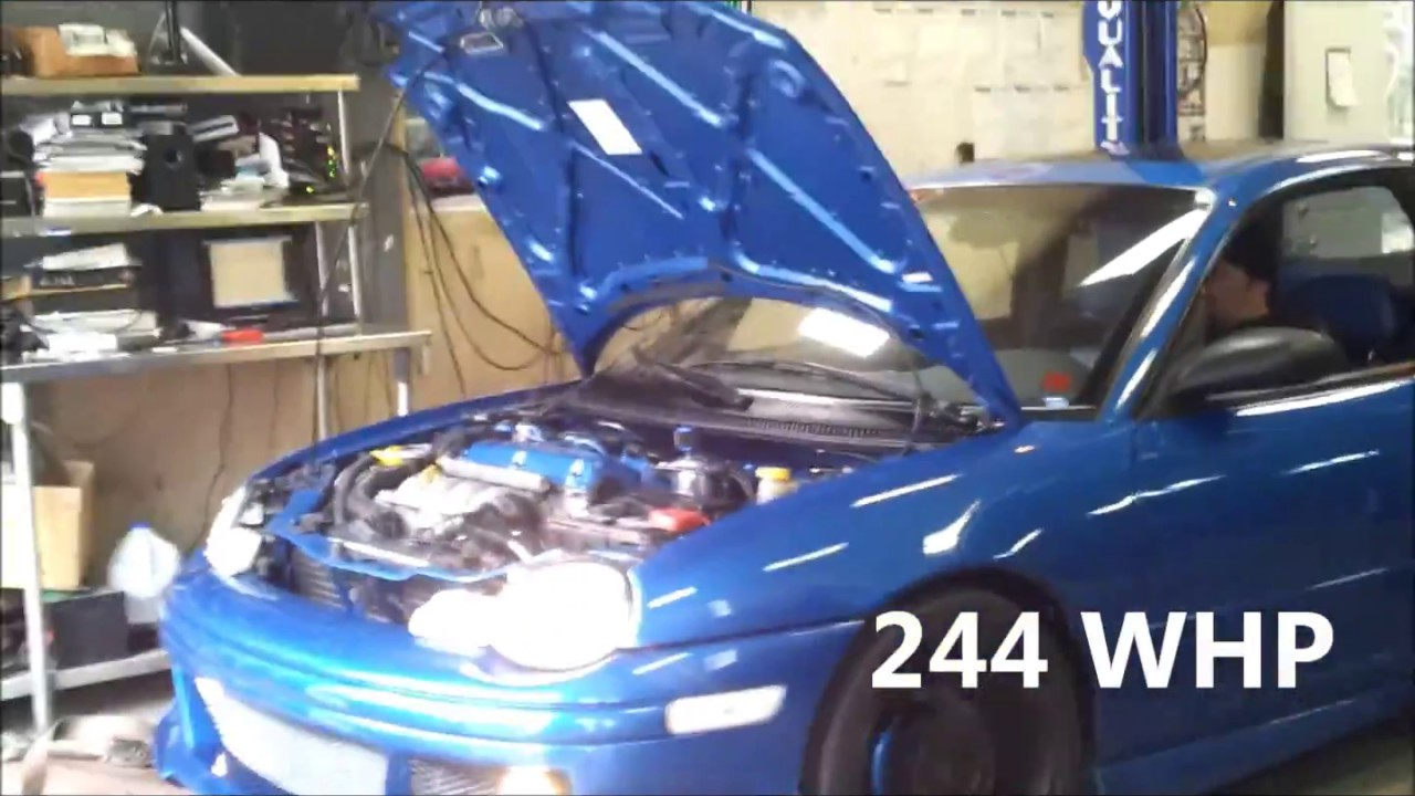 1999 Dodge Neon R/T 2 0 DOHC turbo Hahn 16G stage 2 dyno