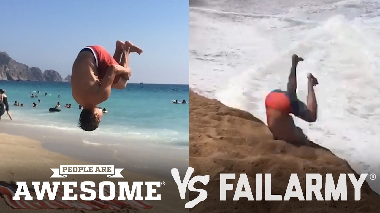 Download Backflips & Sandboarding   People Are Awesome vs. FailArmy