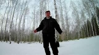 На лыжах по зимнему лесу