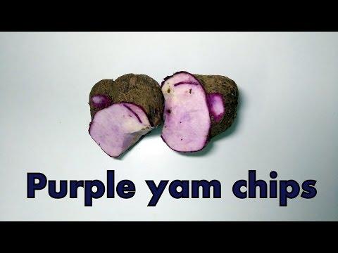 Tasty Purple yam - konfal (कोनफळ) Chips