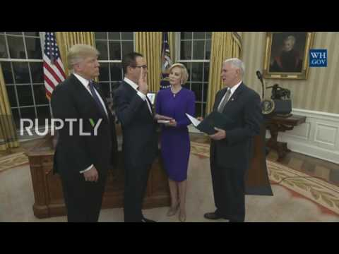 USA: Steven Mnuchin sworn in as Treasure Secretary at White House