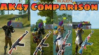 Dragon AK comparison With Winterland AK and other AK Free Fire Battlegrounds 2019