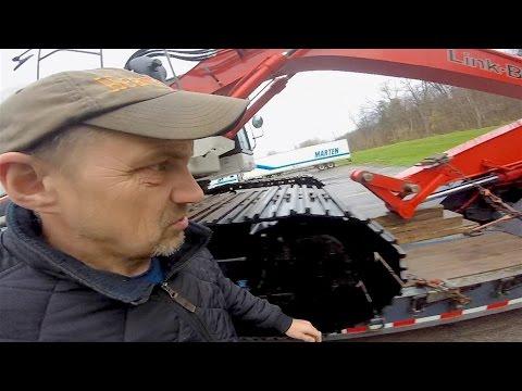 Heavy Haul TV: 52,000 LB LinkBelt 235X3 Excavator from Pennsylvania USA to Ontario, Canada