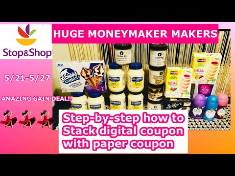STOP AND SHOP COUPON DEALS HAUL (5/21-5/27) FREEBIES! HOW TO STACK DIGITAL COUPON WITH PAPER COUPON