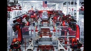 Роботы на фабрике Tesla