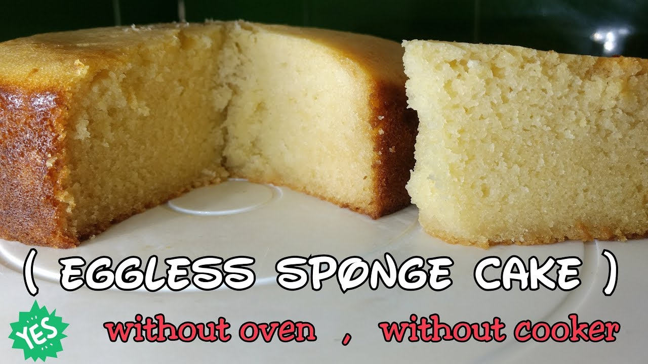 Eggless Cake Recipe In Marathi With Oven: Basic Eggless Sponge Cake Without Oven