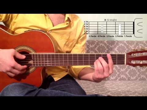 B Si Majör Akoru Nasıl Basılır Gitar Dersleri