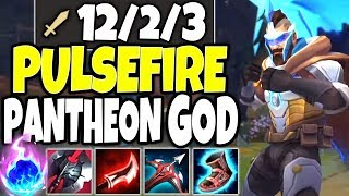 Meet the FNATIC PANTHEON GOD BUILD 🔥 NEW Pulsefire Pantheon Skin is OP 🔥 LoL Pantheon s10 Gameplay