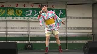 2016/8/4福生七夕まつりオープニングセレモニーのあとの七夕織姫コンテ...