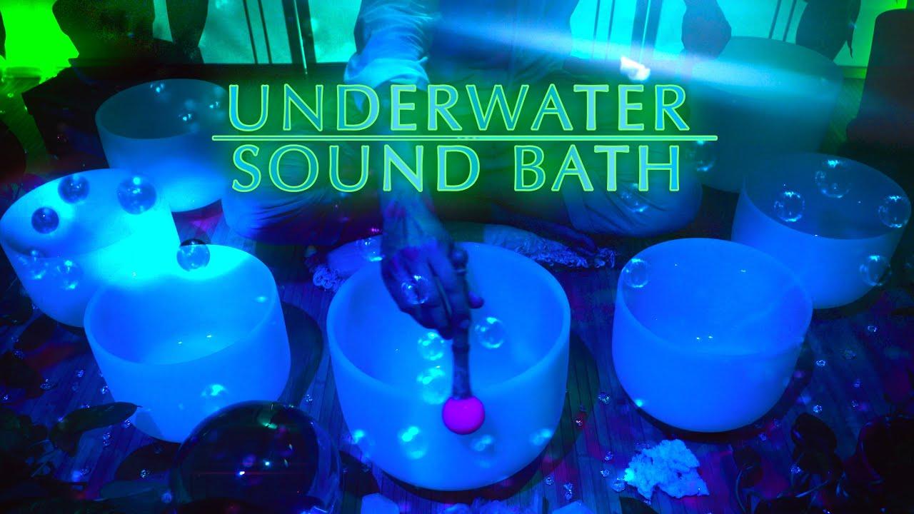 Underwater Sound Bath for Deep Meditation | Crystal Singing Bowls | Sleep Music | Study | ASMR