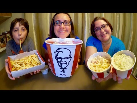 KFC | Gay Family Mukbang (먹방) - Eating Show