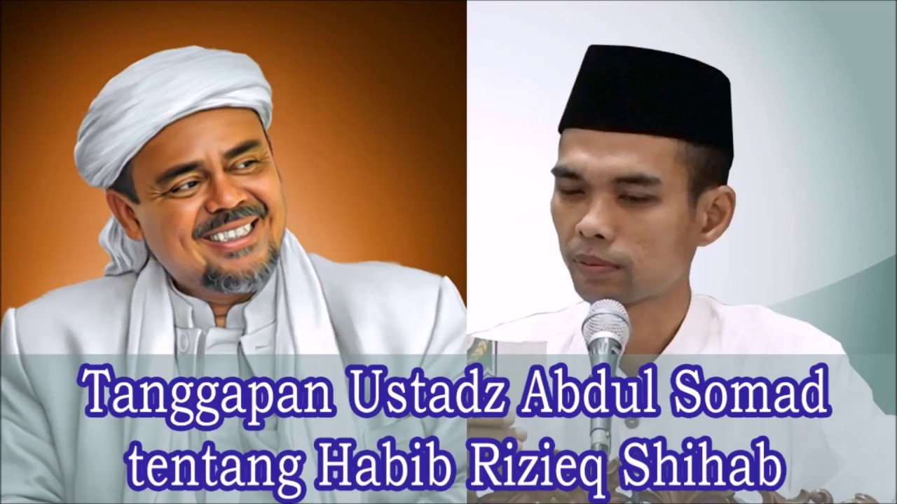 Hasil gambar untuk abdul somad dan rizieq shihab