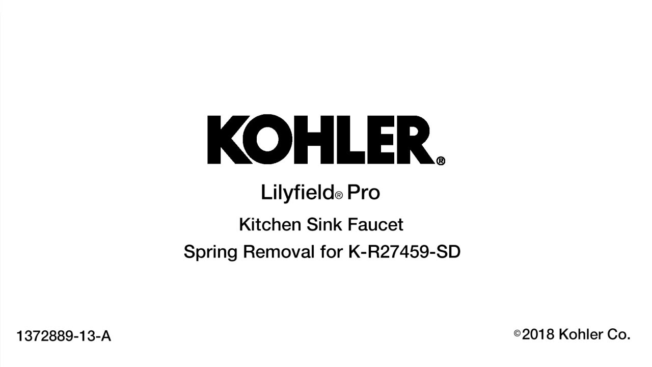 Lilyfield Pro Kitchen Sink Faucet Spring Removal