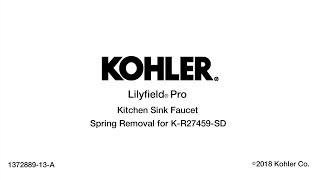 Lilyfield Pro Kitchen Sink Faucet Spring Removal Instructions