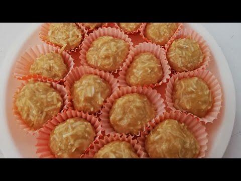 Jamoncillos con coco dulce de leche con coco
